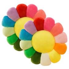 """20""""x20"""" Soft Cushion Seat Push Pad Sofa Chair Rainbow Flower Pillows Home Decor"""