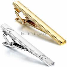 Gentleman Mens Metal Simple Necktie Tie Bar Clasp Clip Clamp Pin Party Wedding