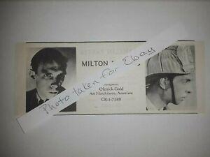 Milton Parsons Original 1940s actors casting ad