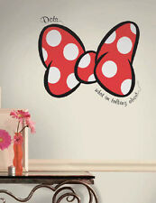 Disney MINNIE MOUSE big RED BOW wall sticker MURAL decal DOTS I'm talking about