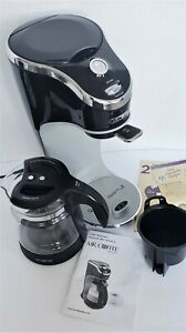 Mr. Coffee Cafe Latte BVMC-EL1 2 Cup Black Built-in Frother tested. Working