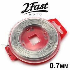 2FastMoto Stainless Steel Safety Grip Wire Spool 0.7mm x 30m Roll Red Motorcycle
