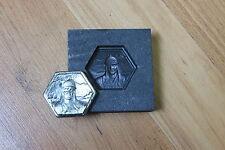 Biker Dude Hex Bar Graphite mold for casting Silver Gold Glass Aluminum