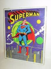 PLAYSKOOL VINTAGE WOODEN SUPERMAN FRAME TRAY PUZZLE 18 WOOD PIECES 1976 #380-01