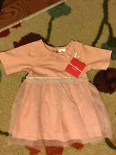 NEW Hanna Andersson Baby Girl Dress Diaper Cover Tulle Glitter 80 18-24 M