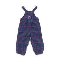 Baby B'Gosh Vtg Osh Kosh BUBBLE Vestback Overalls Pink Blue Plaid Romper 24 Mos
