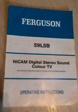Ferguson 59L5B televisione TV a colori libretto di istruzioni/manuale del proprietario