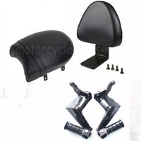 Rear Backrest Black Seat Sissy Passenger Foot Pegs For Victory High-Ball Vegas