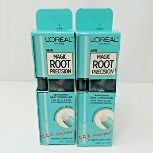 Lot of 2 L'Oréal Paris Magic Root Precision Temporary Hair Color Concealer Black