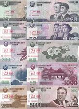 KOREA 10 PC 5 10 50 100 200 500 1000 2000 5000 5.000 WON SPECIMEN 2002 2008 UNC