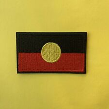 Australian, Aboriginal, Indigenous Flag - Iron On Patch Embroidered Badge