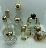 Lot Of (9) Collectible AVON Clear Glass Perfumes (empty)