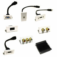 Modular Faceplates Wall Plate Outlets Multi Media HDMI/SVG/RJ45/RCA/BRUSH/JACK