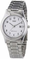 Casio Stainless Steel Men's Watch with Date Display & White Face MTP-1141PA-7B