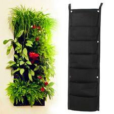 VERTICAL GARDEN PLANT HANGERS - 7 PLANTS / FABRIC PLANT BAGS
