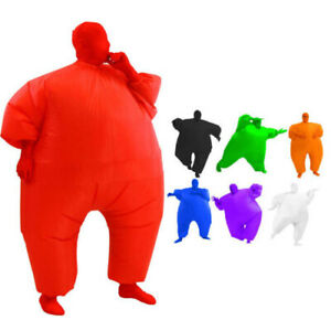Fan Operated Inflatable Fancy Chub Fat Masked Suit Dress Party Costume