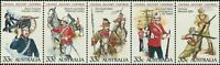 Australia 1985 SG964 Military Uniforms strip of 5 MNH