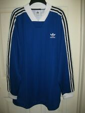 Adidas Originals B-Side Long Sleeve Soccer Jersey Blue White DH5057 Size XL