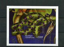 Central African Republic 2001 MNH Reptiles 1v S/S I Snakes Boomslang