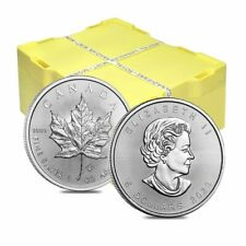 Monster Box of 500 - 2020 1 oz Canadian Silver Maple Leaf .9999 Fine $5 Coin BU