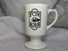 VINTAGE FOX & HORN FOOTED CUP MUG STERLING VITRIFIED CHINA USA
