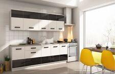 Küchenzeile SANDRA 220CM Küchenblock Einbauküche Küche  HOCHGLANZ MATT