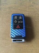Carbonio Blu Pellicola Decorazione Coperchio Chiave Volvo D5 S80 XC60 XC70 V70 5