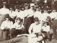 c. 1900 Group of Rough & Tough Young Men Cabinet Photo MALE AFFECTIONATE GAY