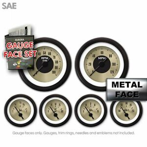 Gauge Face Set - SAE American Classic Gold IIII