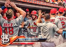 2018 Topps St Louis Cardinals Team Set Series 1 & 2 - 22 Cards