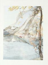 ANTON (Toni) KRAJNC- AUTUMN WATER.- ORIGINAL LITHOGRAPH 1980 -SIGNED-NUMBERED .
