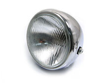 """6 3/4"""" Chrome Steel Motorbike Motorcycle Headlight 12V 55W Cafe Racer Project"""