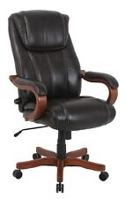 VinMax Heavy Duty Office Rolling Computer Chair Brown High Back Executive Desk