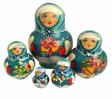 POUPEES RUSSES MATRIOCHKA PEINTE CADEAU DE NOEL RUSSIE / 5 PIECES -