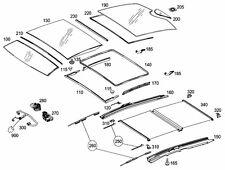 #100 * 08 - 14 Mercedes E350 E500 C250 C350 Coupe front sunroof glass 2077800421
