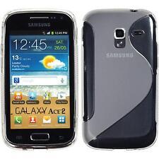 Silikon Hülle für Samsung Galaxy Ace 2 clear S-Style + 2 Schutzfolien