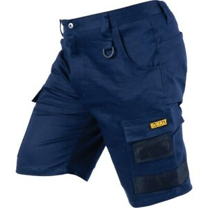 DEWALT Navy PROStretch Extreme Comfort Workwear Breathable Shorts - 32 Navy