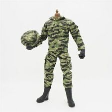 "1/6 Scale Soldier Clothes Set Jacket Pants Hat Camouflage For 12"" Action Figure"