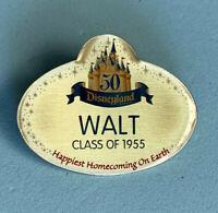 Disney Collector Pin Cast Exclusive Disneyland 50th Walt Badge May 5, 2005