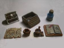 7 pc Workroom Accessories #4 Thomarillion Unpainted Pewter Dwarven Forge D&D