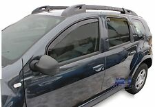 DDA13108 DACIA DUSTER 5 door 2010-2017 wind deflectors 4pc set TINTED HEKO