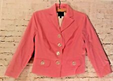 The Limited Women's Peach Cotton Jacket Blazer Long Sleeve Lined Size 4