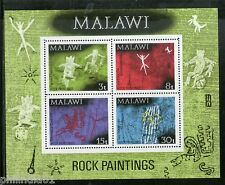 Malawi 1972 Rock Paintings Art Figures Chencherere Hill M/s Sc 189a MNH # 6196