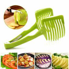 Titular de la Corte Fácil De Horquilla vegetal Máquina De Cortar Cebolla horquilla con cubierta de la Aguja-Naranja