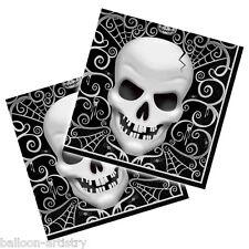 16 LA TERREUR Crâne Gothique Halloween Party 33 cm jetables serviettes en papier