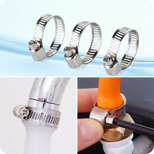 10Pcs Adjustable 8-12mm Stainless Steel Drive Hose Clamp Fuel Line Worm Clips