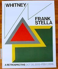 FRANK STELLA RETROSPECTIVE ORIGINAL 2015 EXHIBITION POSTER