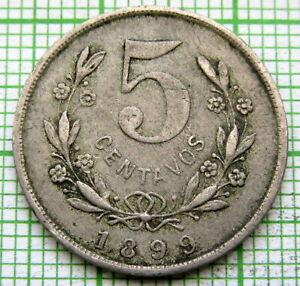 NICARAGUA 1899 5 CENTAVOS
