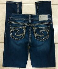 Silver Suki Skinny Stretch Dark Blue Jeans size 25 x 31