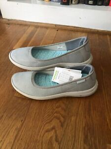 Crocs Reviva Women's Slip-on Flat 205880-01S Gray New w/Tags Size 9
